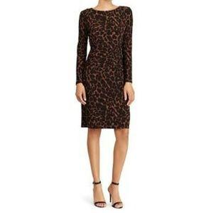 Leopard Dress by Lauren Ralph Lauren in Jersey